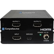 Comprehensive® 2 Port HDMI UHD Splitter, Black (CDA-HD200EK)