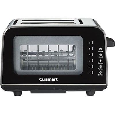 Cuisinart® ViewPro™ 2-Slice Stainless Steel Toaster, Black (CPT-3000)