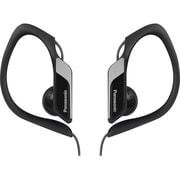 Panasonic RP-HS34M-K Water-Resistant Sport Clip Headphone With Mobile Controller, Over-The-Ear, Black