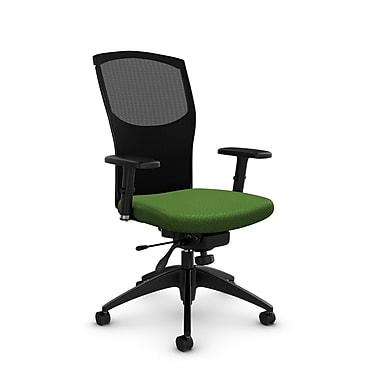 Fauteuil en mailles à inclinaison aux genoux, tissu Match vert, vert