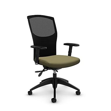 Chaise de travail en mailles, tissu Imprint origan, vert