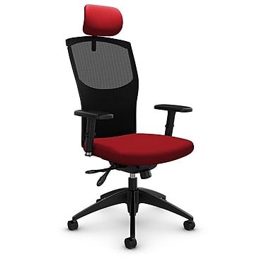 Mesh Multi Tilter with Headrest, Imprint - Candy Apple Fabric, Red