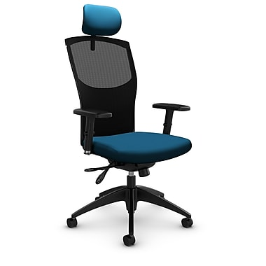 Mesh Multi Tilter with Headrest, Imprint - Navy Fabric, Blue