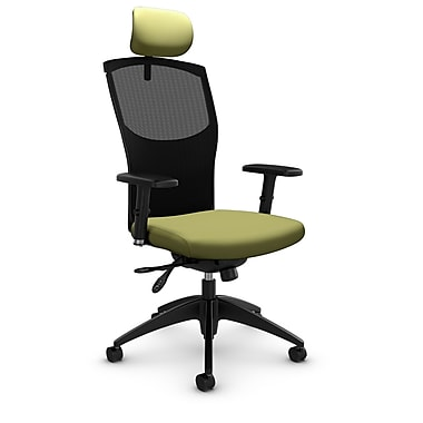 Mesh Multi Tilter with Headrest, Imprint - Celery Fabric, Green