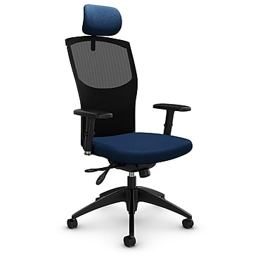 Mesh Multi Tilter with Headrest, Match - Wave Fabric, Blue
