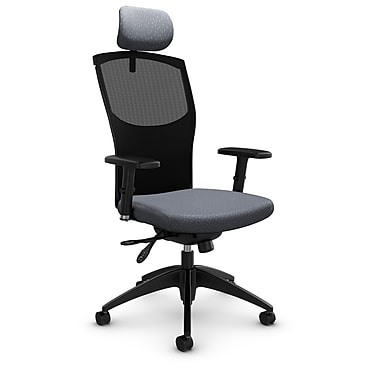 Mesh Multi Tilter with Headrest, Match - Grey Fabric, Grey