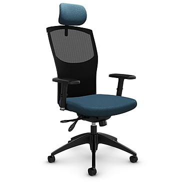 Mesh Multi Tilter with Headrest, Match - Arctic Fabric, Blue