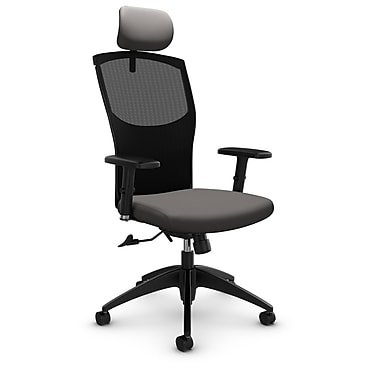 Mesh Tilter with Headrest, Imprint - Graphite Fabric, Grey
