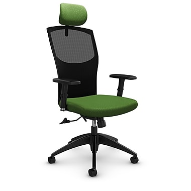 Mesh Tilter with Headrest, Match - Green Fabric, Green