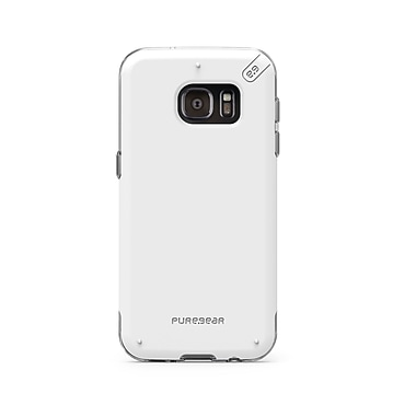 Puregear Dualtek Pro GS7 Phone Case, White/Clear
