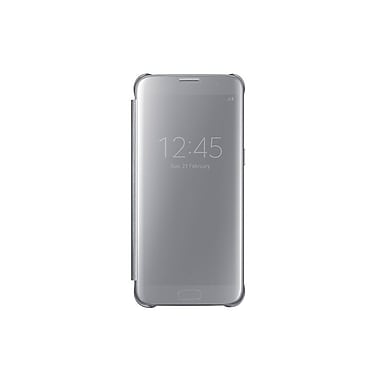 Samsung Clear View Cover GS7 Edge Phone Case, Silver