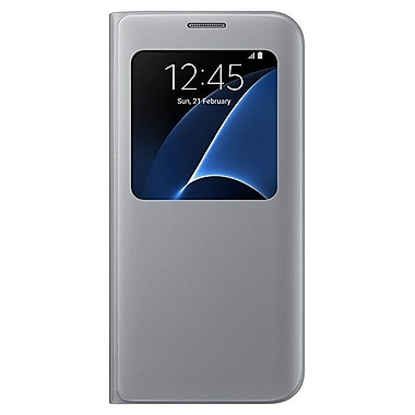 Samsung S View Cover GS7 Phone Case, Silver
