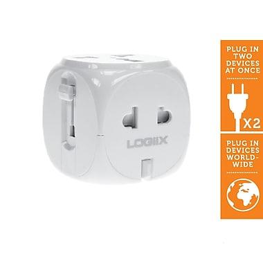 LOGiiX LGX-10280 World Traveler Adapter, White