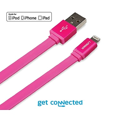 LOGiiX LGX-10901 Piston Connect Flat, Lightning Cable, 1.5 M, Pink