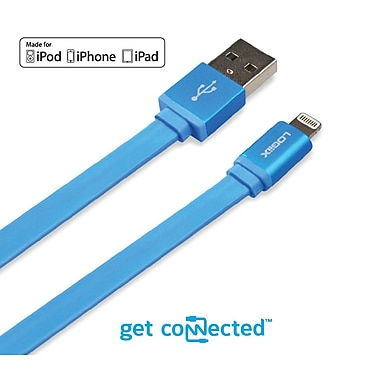 LOGiiX LGX-10902 Piston Connect Flat, Lightning Cable, 1.5 M, Blue