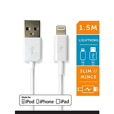 LOGiiX LGX-10911 Sync & Charge Jolt Lightning Cable, 1.5 M, White