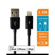 LOGiiX LGX-10951 Sync & Charge Jolt Lightning Cable, 1.5 M, Black