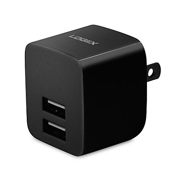 LOGiiX LGX-11742 USB Power Cube Rapide, 2.4A, 12W, AC Charger, Black