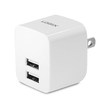 LOGiiX LGX-11743 USB Power Cube Rapide, 2.4A, 12W, AC Charger, White