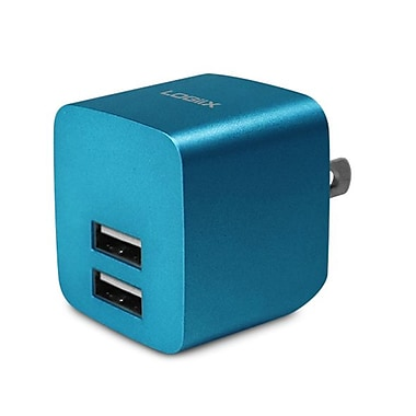 LOGiiX LGX-11748 USB Power Cube Rapide, 2.4A, 12W, AC Charger, Turquoise