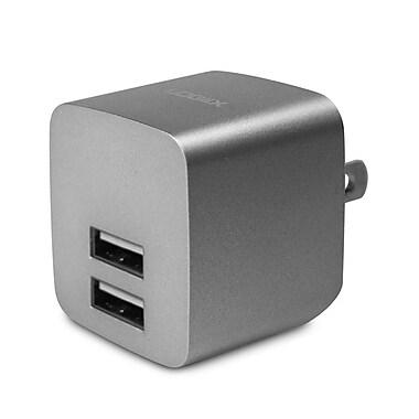 LOGiiX LGX-12035 USB Power Cube Rapide, 2.4A, 12W, AC Charger, Graphite Grey