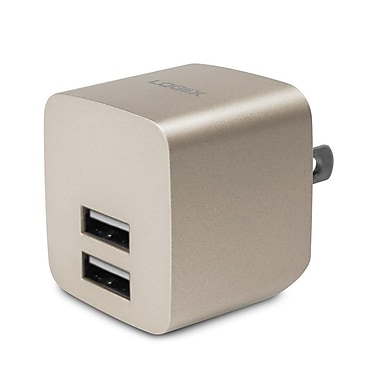 LOGiiX LGX-12036 USB Power Cube Rapide, 2.4A, 12W, AC Charger, Gold
