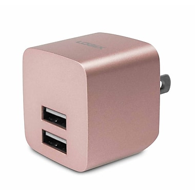LOGiiX LGX-12161 USB Power Cube Rapide, 2.4A, 12W, AC Charger, Rose Gold