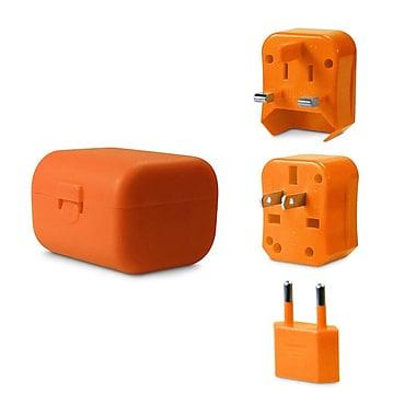 LOGiiX LGX-11770 Jet Setter Adapter Kit, World Traveler, Orange