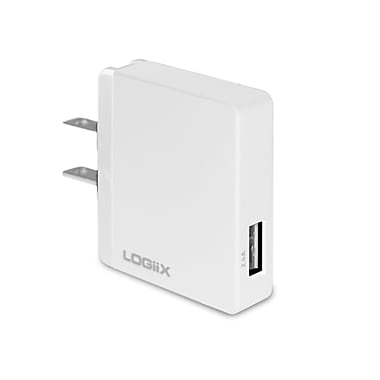 LOGiiX LGX-11999 USB Power Cube SS, 2.4 A, 12W AC Charger, White