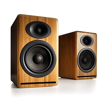 Audioengine AP4N Premium Passive Speakers, Bamboo