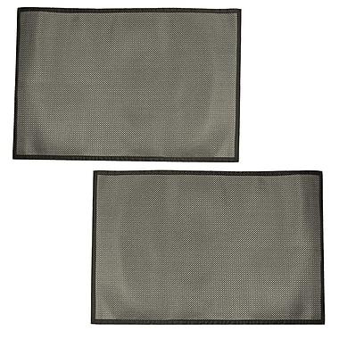 Cathay Importers – Tapis de sol en vinyle tissé noir et argenté, 4 x 6 (pi), 2/paquet