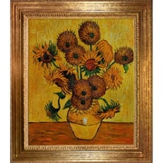 Wildon Home   Vase w/ Fifteen Sunflowers by Vincent Van Gogh Framed Painting