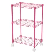Wildon Home   DuVig 28'' H Three Shelf Shelving Unit; Pink