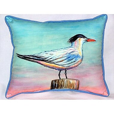 Betsy Drake Interiors Royal Tern Indoor/Outdoor Lumbar Pillow; Large