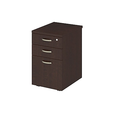 Bush Business Furniture Easy Office 16W, 3 Drawer Mobile Pedestal, Mocha Cherry (EOF116MR-03)