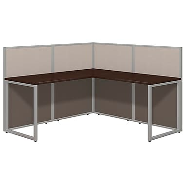 Bush Business Furniture Easy Office 60W, L Desk Open Office, Mocha Cherry (EOD360MR-03K)