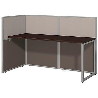 Bush Business Furniture Easy Office 60W, Straight Desk Open Office, Mocha Cherry (EOD160MR-03K)