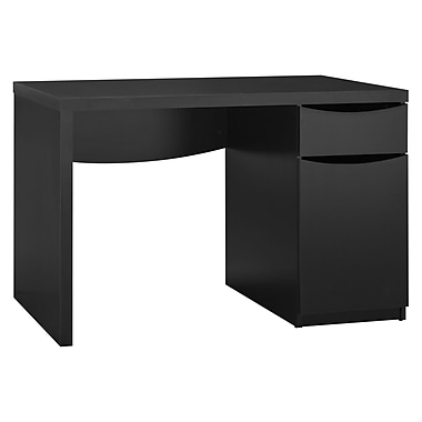 Bush Furniture Montrese Collection Desk, Classic Black (MY72717-03)