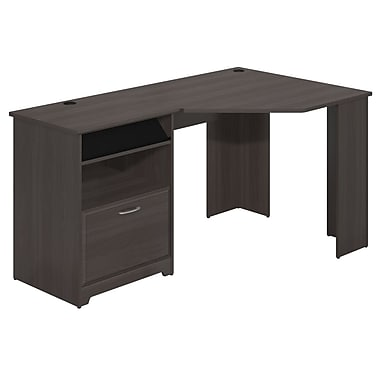 Bush Furniture Cabot Collection Corner Desk, Heather Grey (WC31715-03)