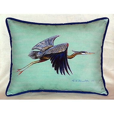 Betsy Drake Interiors Flying Heron Indoor/Outdoor Lumbar Pillow