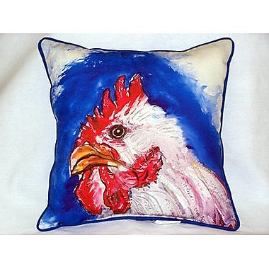 Betsy Drake Interiors Rooster Head Indoor/Outdoor Throw pillow