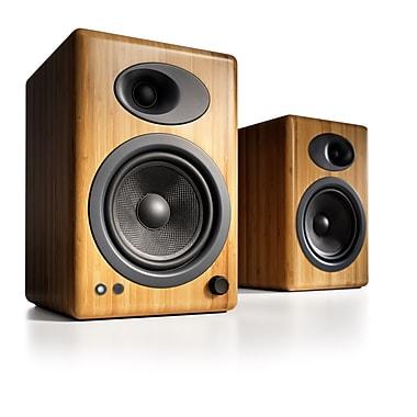 Audioengine A5-N-115V A5+ Premium Powered Speakers, Bamboo