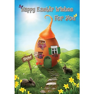 Millbrook (22968) Easter Greeting Card, Happy Easter Wishes, 18/Pack