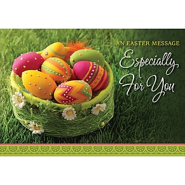 Millbrook (22970) Easter Greeting Card, An Easter Message, 18/Pack
