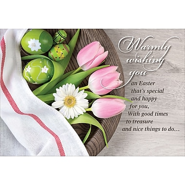 Millbrook (22977) Easter Greeting Card, Warmly Wishing You, 18/Pack
