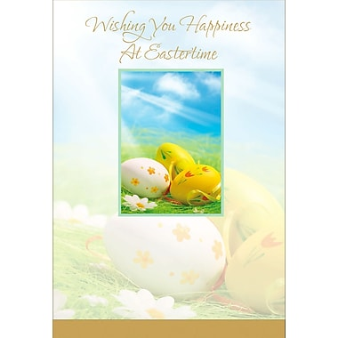 Rosedale (39288) Easter Greeting Card, Wishing You Happiness..., 12/Pack