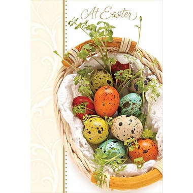 Rosedale (39295) Easter Greeting Card, At Easter, 12/Pack