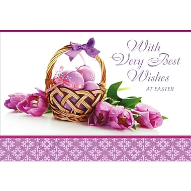 Rosedale (39299) Easter Greeting Card, Wish Very Best Wishes, 12/Pack