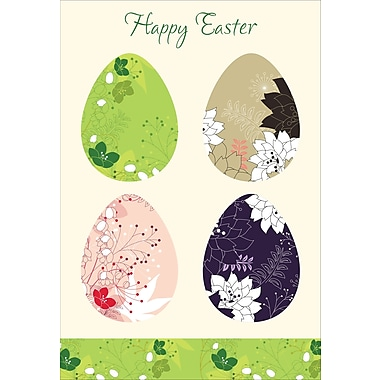 Rosedale (39301) Easter Greeting Card, Easter Eggs, 12/Pack