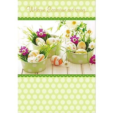 Rosedale (39303) Easter Greeting Card, Welcome Eastertime, 12/Pack